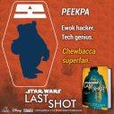 Introducing Peekpa, the only creature in the galaxy who loves Chewbacca more than Maz. #LastShot #MeetTheCrew