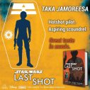 You could try to teach an old spacer new tricks… or you could hire Taka Jamoreesa. #LastShot #MeetTheCrew