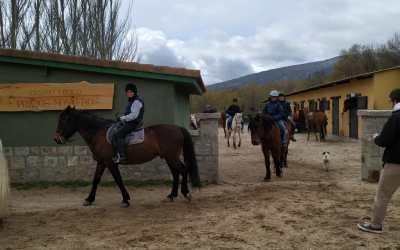 De paseo a caballo en Guadarrama