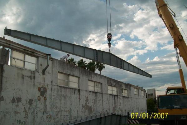 Avanza el montaje del techo del Natarorio