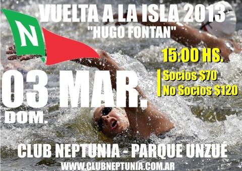"""Natación: Domingo 03/03 Vuelta a la isla """"Hugo Fontan"""" 2013"""
