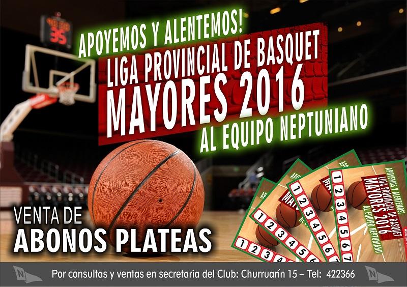 Basquet: Liga Provincial – Apoyemos a la 1° del Club.