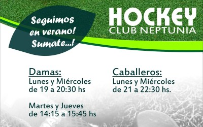 EL HOCKEY DE NEPTUNIA CONTINUA EN VERANO.