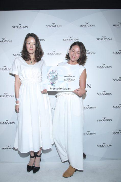 千葉アリサ・アリス 白コーディネート- センセーション2016 ホワイトコーディネート例