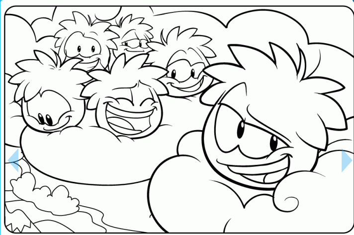 Puffle Party Pages Coloring Pages