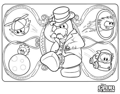 Coloriage Club Penguin Cake Ideas and Designs