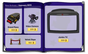 Club Penguin February 2013 Furniture Catalogue Sneak Peek