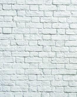 Виниловый фотофон, белый кирпич, белая кирпичная стена
