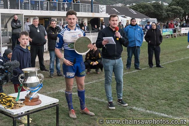 27 July 2019 Norths (25) v Wainui (16) Jubilee Cup final. Petone Recreation Ground. MORE photos at www.chainsawphotos.co.nz