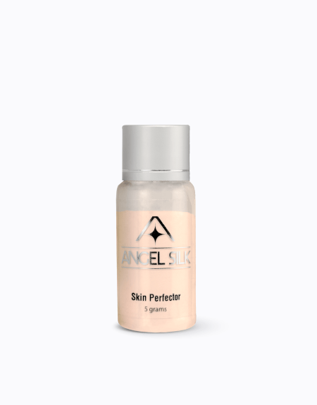 An image that displays the Angel Silk bottle, a skin perfector