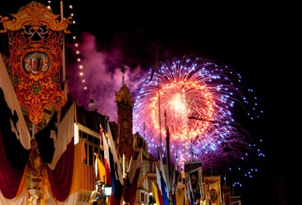 Fireworks during Feast