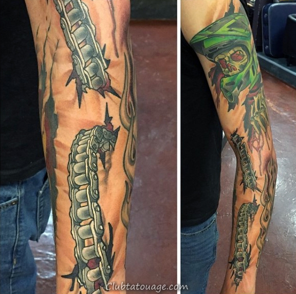 20 Wicked Chain Sleeve Tattoos Ideas And Designs