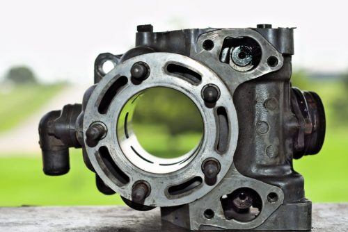 Cylinder Block of a two stroke engine
