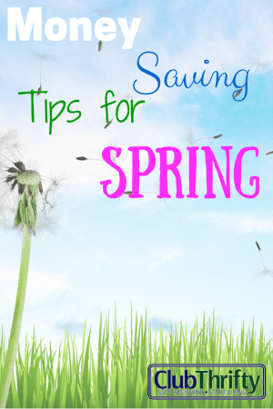 Spring is a great time to make adjustments to your money saving plans. Use these money saving tips to get your savings on track for spring and beyond.