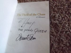 """My autographed copy of """"The Thrill of the Chase"""""""