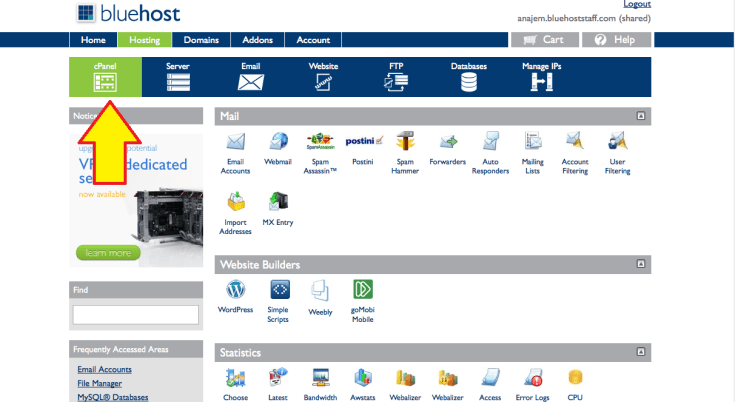 Bluehost Cpanel 1