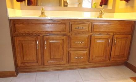 My Frugal Bathroom Cabinet Remodel