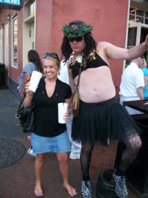 """Me and some random guy in New Orleans.  He told me he felt queasy because he """"just ate a sammich."""""""