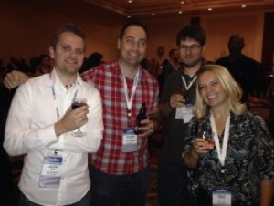 Me with a few of my favorite nerdy bloggers
