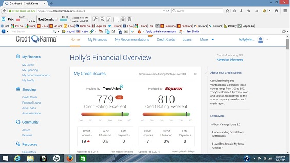 hollys screenshot credit karma