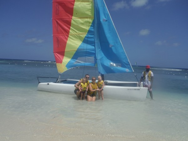Us before our hobie cat ride