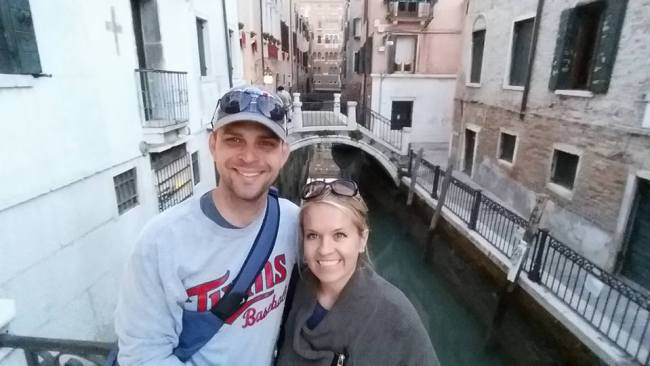 Us in Venice, Italy.