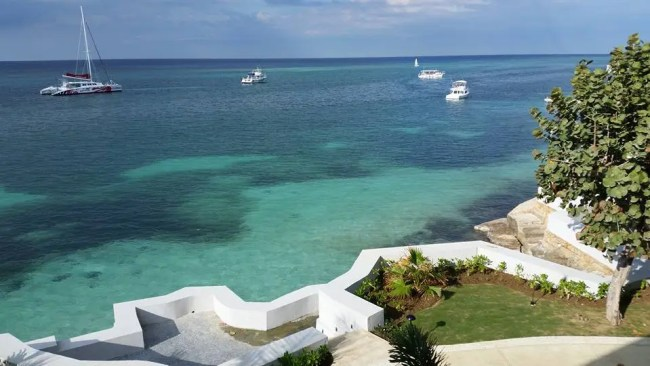 View from one of our rooms in Montego Bay Jamaica