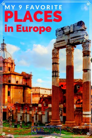 Great list of the best places to visit in Europe! It's filled with photos, stories, and tips to save money while traveling.