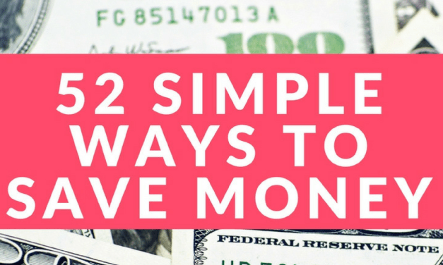 How to Save Money: 52 Simple Ways to Save