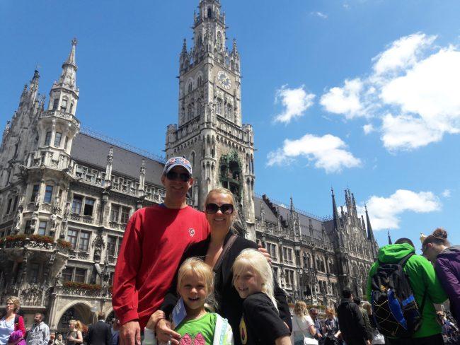 Our trip to Europe - Munich glockenspiel clock
