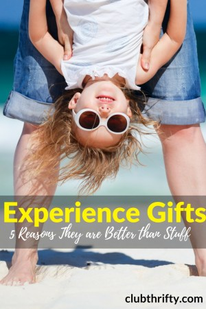 """Can't find the perfect gift for your child or spouse? Here are 5 reasons I believe experience gifts are better than any """"stuff"""" you can buy."""