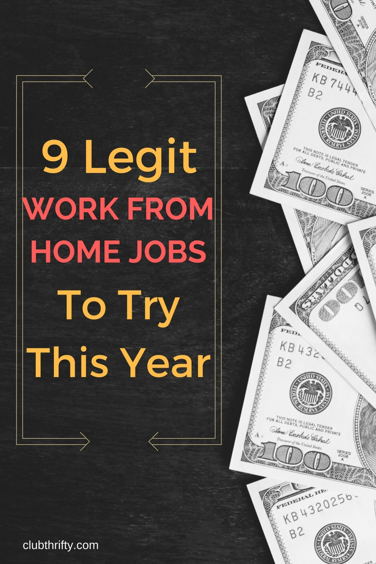 9 legitimate work from home jobs for 2018 club thrifty