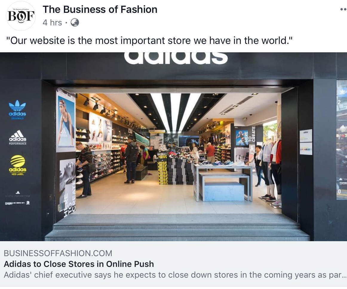 adidas says website most important