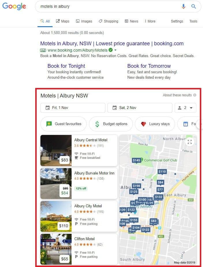 google search motel