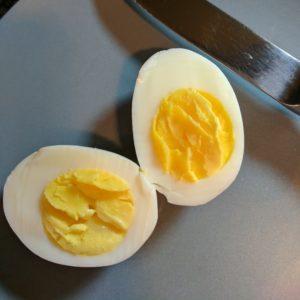 Egg 1 results of Taylor egg timer test