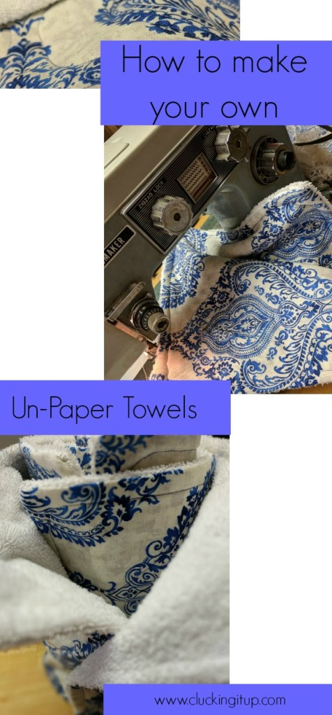 how to make your own un-paper towels