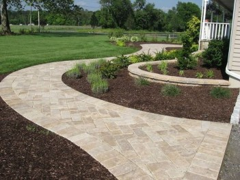 Comfy Front Yard Pathways Landscaping Ideas You Must Know04