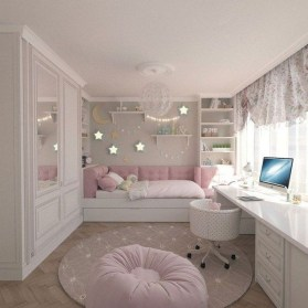 Delicate Tiny Bedroom Decor Ideas For Teens05