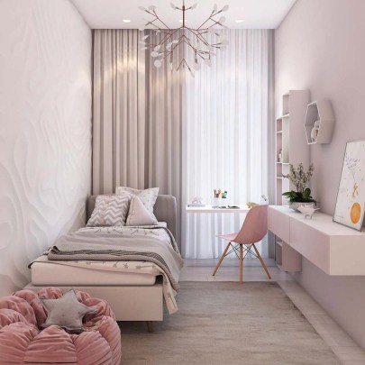 Delicate Tiny Bedroom Decor Ideas For Teens35