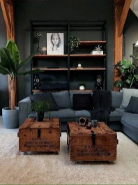 Adorable Black Living Room Ideas That Looks Cool06