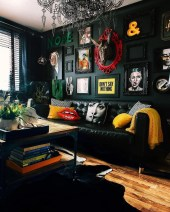 Adorable Black Living Room Ideas That Looks Cool08