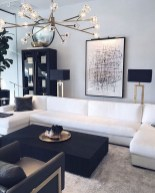 Adorable Black Living Room Ideas That Looks Cool15