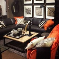 Adorable Black Living Room Ideas That Looks Cool36