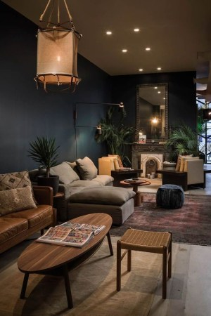 Adorable Black Living Room Ideas That Looks Cool40