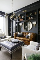 Adorable Black Living Room Ideas That Looks Cool43