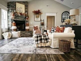 Amazing Fall Living Room Decorating Ideas To Try Asap09