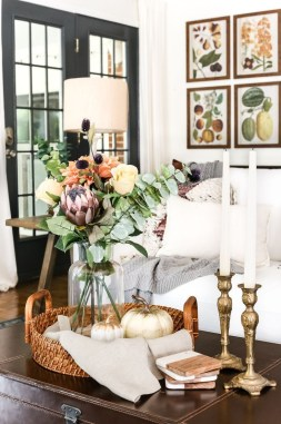 Awesome Living Room Decoration Ideas For Fall35