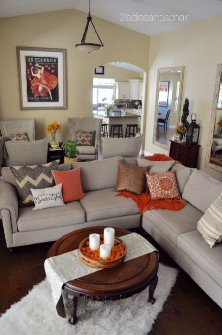 Awesome Living Room Decoration Ideas For Fall42