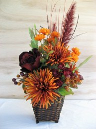 Brilliant Faux Flower Fall Arrangements Ideas For Indoors05