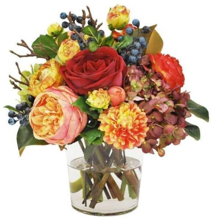 Brilliant Faux Flower Fall Arrangements Ideas For Indoors11